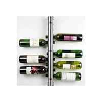 Wholesale Stainless Steel holes beer Wine wisky Holder stand Rack Bar Wall Mounted grip Shelf Kitchen Storage Tubular holes