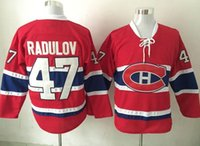 Wholesale hockey jersey size 48 for sale - Group buy New Canadiens Jersey Radulov Hockey Jerseys Home Red Color Size Stitched High Quality Cheap Price Mix Order All Jerseys