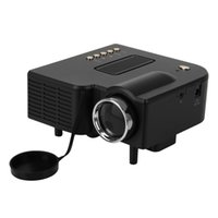 Venta al por mayor-UC28 Multimedia portátil Mini Hd Led Proyector Cine Teatro Soporte Pc Laptop HDMI VGA Entrada y SD USB AV con control remoto