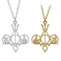 Wholesale city bones - Potter Hunger Games City of Bones pendant necklaces Silver Gold Plated Pendant for Women Jewelry Drop Shipping