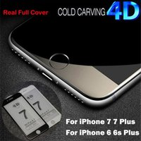 4D Для iphone7 7 плюс закаленное стекло Soft Edge Full Cover Curved Anti-Blue Light Screen Protector для iphone 6S 6Plus Glass Film
