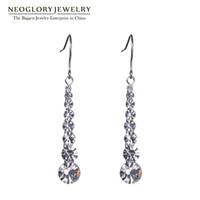 Wholesale Dangle Drop Beads - Charm Auden Rhinestone Beads Long Drop Earrings For Women Fashion Neoglory Jewelry
