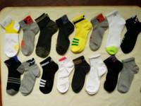 calcetines antibacterianos al por mayor-Venta caliente marca grande A jia sport calcetines 100% algodón hombres y mujeres calcetines cortos transpirable desodorante antibacterial running / baloncesto calcetines