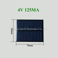 Wholesale smaller solar panels resale online - 100pcs Epoxy Resin Small Solar Panel V mA W mm