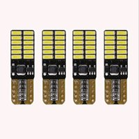 4pcs / lot 800 lúmenes T10 W5W 2835 168 LED CanBus libre de error 4014 24 SMD 5W Car frontal placa de matrícula de puerta luces LED