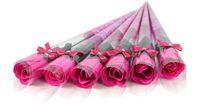 Wholesale Valentine Bouquets - NEW Valentine 's Day Single Rose Bouquet Simulation Flower Teacher' s Day Decoration Gift Creative Festival