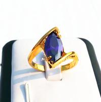 Wholesale Gold Ring Alexandrite - Wholesale Women's Jewelry Elegant Nature Alexandrite Gemstone Jade 10KT Yellow Gold GP Wedding Ring