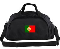 Wholesale Handbag Sports - Portugal duffel bag Country flag tote Nation team backpack Football luggage Sport shoulder case Outdoor sling handbag