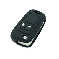 Wholesale Flip Key Chevrolet - Silicone car key fob cover case holder protect shell For Chevrolet Cruze Spark Onix Volt Aveo Sonic flip folding 2 button remote