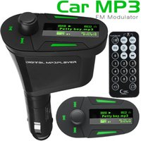 Wholesale Car Charger Jack - Car MP3 Player Car Audio LCD Wireless 360 Degree Rotation USB Car Charger 3.5mm Stereo Headphone Jack Remote Control With Retail Package
