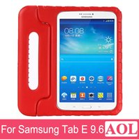 """Wholesale Tablet Protective Case For Kids - DHL free Kids Shock Proof Case Non-toxic For Samsung Galaxy Tab E 9.6"""" T560 T561 EVA Foam Handle Stand Tablet Protective Cover"""