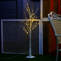 Wholesale Indoor Bars For Home - 1.2M 4FT 48 LEDs Silver Birch Twig Tree Warm White Light White Branches for Home, Party, Wedding, Bar, Indoor Outdoor Decoration 220V