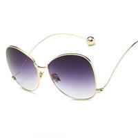 óculos de borboleta claros venda por atacado-Atacado-Moda Feminina Personality Oversized Sunglasses Marca Clear Lens Óculos Borboleta Eyewear Proteção UV400 Oculos Gafas De Sol