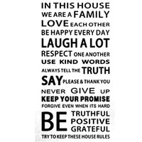 Regras da casa English Proverbs Wall Sticker Family House Rules Wall Stickers Decal Removable Decor Home Kids Great Gift Wallpapers