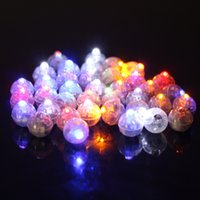 Wholesale White Flash Papers - Lot Round Led Flash Ball Lamps Balloon Lights for Paper Lantern White Or Multicolor Led Wedding Party Decoration Light F2017103