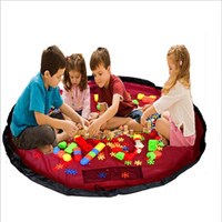 Wholesale Large Round Rugs - Toy Storage Bags Extra Large Play Mat Quick Setting Building Block Kids Cushion With Beam Port Toys Organizer Rug Multi Function 19ms D