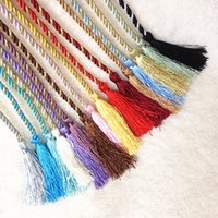 Wholesale Hands Tied Rope - 130Cm Hand Knitted Curtain Tiebacks Rope Curtain Holders Curtains And Blinds Holdbacks Tie Drawstring Lace Rope Indoor Outdoor Use