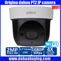 Wholesale Mini Pan Tilt Zoom Camera - Original Dahua MINI wifi PTZ 4x optical zoom IR Distance up to 30m SD card memory recorder DH-SD29204S-GN-W SD29204S-GN-W PTZ dome camera