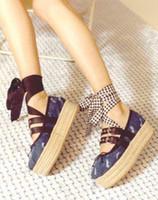 Wholesale Women Denim Wedges - New denim women platform shoes woman wedge casual shoes zapatillas deportivas sapatos femininos sapatilha zapatos mujer