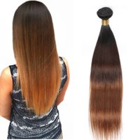 Wholesale ombre hair dye colors for sale - Group buy Peruvian Straight Human Hair Remy Hair Weaves Ombre Tones B Color Double Wefts g pc Can Be Dyed Bleached