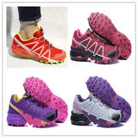 Wholesale Size 41 Women Shoes - 2017 New Hot Sale casual Zapatillas Speedcross 4 Women sneaker Shoes sneaker new Walking Speed cross Women shoes size 36-41