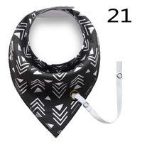Wholesale Skull Tie Clips - NEW !!Bandana Bib and and Pacifier Clip Set, ,Black and white, geometric print Teething Bib, Drool Bib