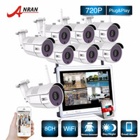 Wholesale Network Nvr System - P2P CCTV 8CH NVR 12 Inch LCD Screen 36 IR Waterproof Network 720P IP Wireless Camera Surveillance Security WIFI System Kits
