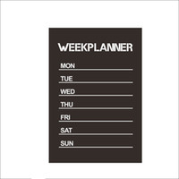 Wholesale Planner Stickers - Hot sale New Design Week Planner Blackboard Removable Vinyl Wall Sticker Chalkboard Decal Nursey free shipping