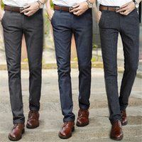Wholesale Taper Pants Man - Wholesale- Korean Autumn Winter Slim Tapered Stretchy Casual Pant Size 28-40
