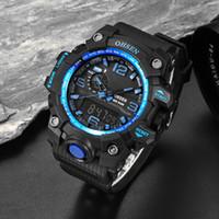 Wholesale Alarm Ads - asculinos relogios Men Sports Watches Waterproof Alarm Chronograph LED Quartz Wristwatches OHSEN Brand Plastic Strap relogio masculino AD...