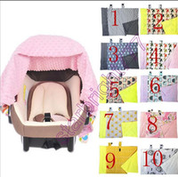 Wholesale Infant Carrier Covers - INS Multifunctional Fox Nursing infant car seat Cover Chevron Zigzag Cotton Baby Carrier shade cloth Baby Car Seat Canopy baby blanket