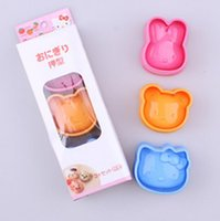 Wholesale Rice Cake Moulds - DIY cartoon cat rabbit bear series Sandwich mould Rice and rice ball mould Sushi mould