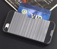 Wholesale Dhl Wallet - For samsung Galaxy S8 Case Card Holder Slot Phone Cover for Galaxy S6 S7 S8 Edge Cover case DHL Free