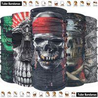 Wholesale Pirate Skull Mask - Latest Outdoor Sport Pirate Skull Seamless Bandana Magic Motorcycle Mask Cap Sunscreen Muffler Multifunctional Headwears Tube Bandana