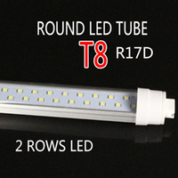 Wholesale Energy Caps - FA8 END CAP LED Tube G13 R17D New Round design 8FT 4FT 2400MM AC85-265V indoor lighting led lamp thick aluminum 20.5mm pcb 72w super brightn