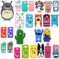Wholesale 3d Minion Case - 3D Cute Cartoon Dog Minions Sulley stitch Unicorn Minnie Rabbit Cover Soft Silicone Case For Samsung Galaxy A3 2017 Cellphone Cases Hot Sale