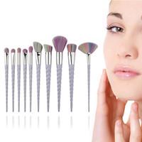 Wholesale Hot Sale Beauty Brush - Hot sale Unicorn makeup brushes 10pcs set Foundation eyebrow Cosmetics makeup tools brushes sets Professional beauty make up brushes sets