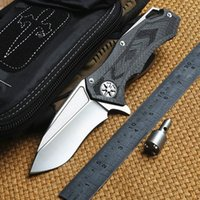 Wholesale Camp Stars - DICORIA Star Lord DAIDO D2 blade carbon fiber handle KVT ball bearing Flipper Tactical folding knife outdoor camping hunting knife EDC tools