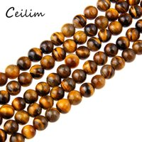 Wholesale Loose Tiger Eye Beads - Natural 8mm Yellow Beads Round Smooth & 8mm Brown Tiger Eye Loose Bead For Bracelets DIY Jewelry Making Wholesale free shipping