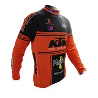 Wholesale Mtb Cycling Wear - Pro Team KTM Men Cycling Jersey Long Sleeves Bike Shirt tour de france Bicycle Clothing Wear Breathable Sportswear mtb Clothes C0130