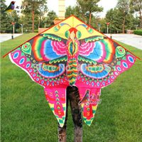 Wholesale Pearl Plastic Material - Outdoor Sports Power Animal Butterfly Carton Kite Pearl Satin Material Good Flying Factory Outlet