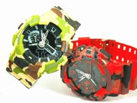 Wholesale Dual Time Boy Sports Watch - CAMO G110 GA watch dual display relogio men's sports watches,wristwatch, military watch, digital watch, good gift for men & boy