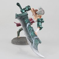 Лига легенд LOL RIVAN Fiora ПВХ фигуры lol The Great Duelist Metal Gear Solid Toys от DHL