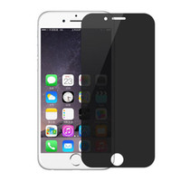 Wholesale China Iphone Glass - China Wholesale Privacy Tempered Glass Screen Protector for iPhone7 6s Premium glass 9H Anti-Spy Peeping Without Retail Packaging
