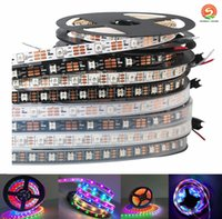 Wholesale Leds Strips Dream Lighting - Waterproof Digital Chasing Dream Color LED Strip 5V 30 60 leds m 2812 RGB led strip light 5050SMD IP67 Auto changing RGB color