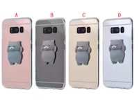Wholesale Doll Silicone Case - 3D Doll Mirror Bling Plating Soft TPU Case For Iphone 8 7 6 6S 5 SE 5S Samsung Galaxy S8 Plus A3 A5 A7 J3 J5 J7 2017 Cell phone Cover 100pcs
