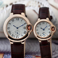Wholesale valentines for men - New Arrival Lovers Couple women men Watches Luxury Top Brand Dress watches Leather Strap Quartz Wristwatch for Mens Ladies Valentine Gift