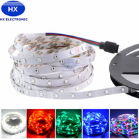 5m 300LEDs SMD3528 RVB Flexilbe Led Strips Light DC 12V Imperméable LED Cordes Éclairage Chaud / Froid Blanc Rouge Bleu Vert Orange