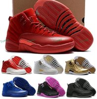 Wholesale Race Racing Games - Basketball shoes air retro 12 XII man TAXI Playoff ovo white wolf Gray Black Gym red gamma GS barons cherry Flu Game sport sneaker boots