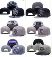 Wholesale Snapback Hats Raiders - Wholesale Black Adjustable Embroidery Oakland Raider Snapback Hats Outdoor Summer Men Basketball Caps Sun Visors Cheap Women baseball Cap